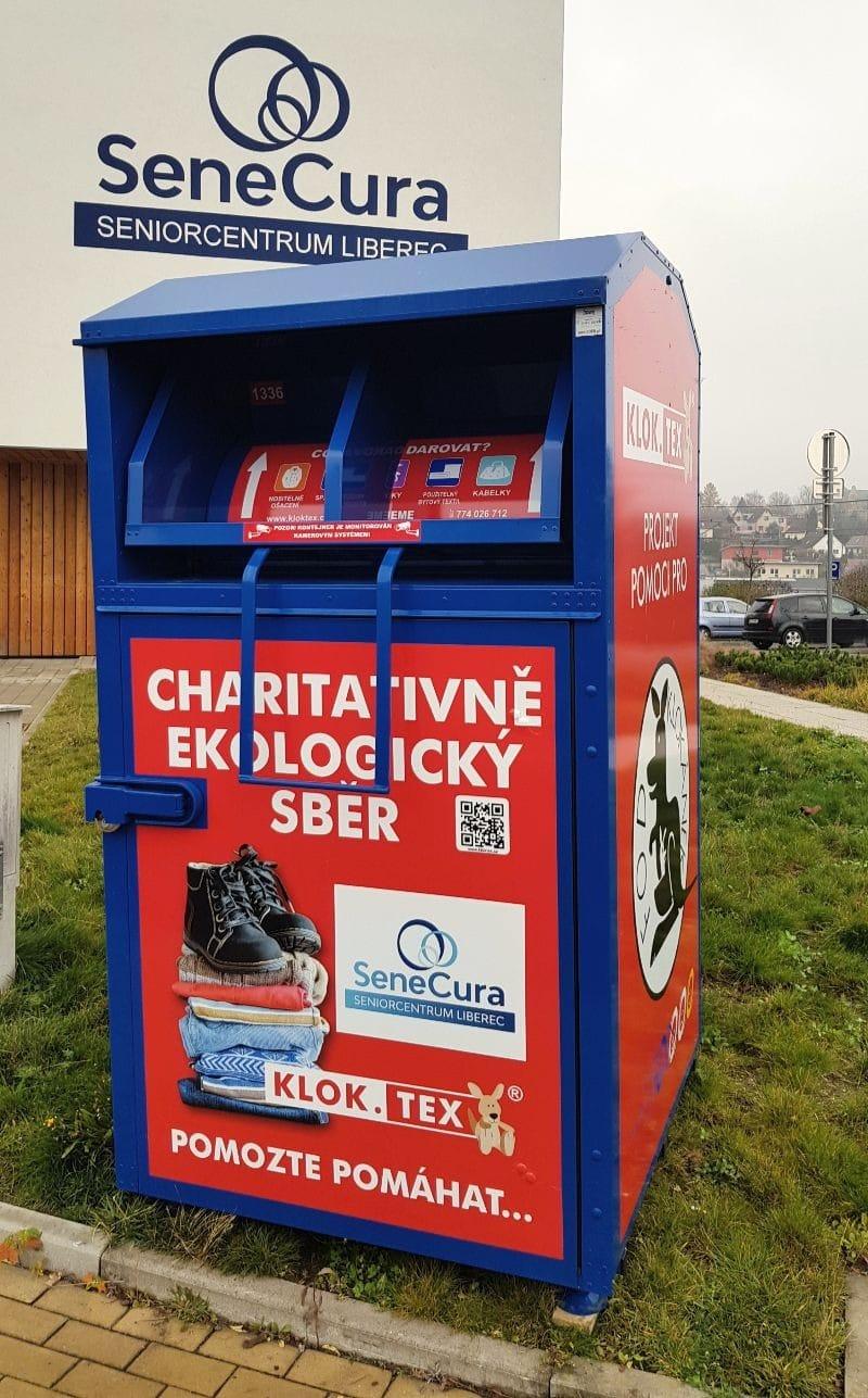Nový kontejner s klokanem u SeniorCentra Liberec